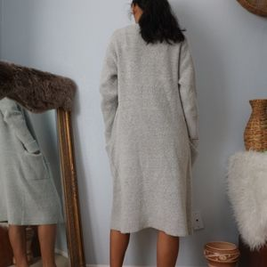 Forever 21 Sweaters - Grey Duster Open Fuzzy Cardigan Medium